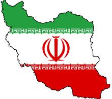 پرچم ایران گنچانده شده در نقشه ایران که با کاربرد نشانی (سمبولیک) طراحی شدهاست.